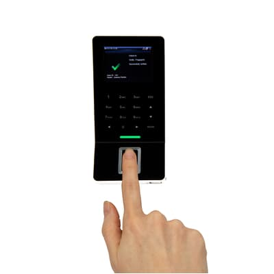 ClockRite AC260 Fingerprint Access Control System In Use