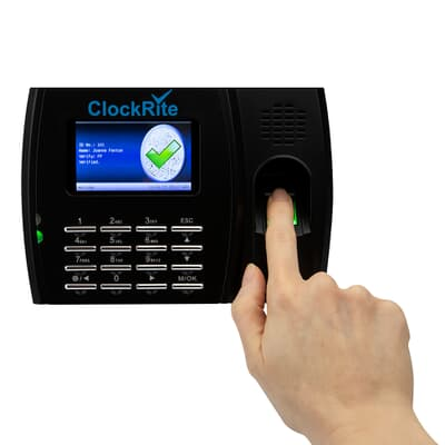 ClockRite C200 Fingerprint Clocking Machine In Use
